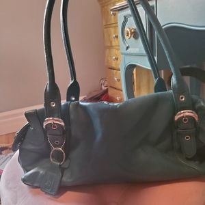 Soprano leather teal bag